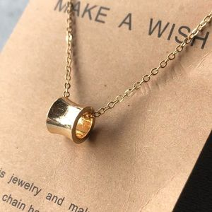 Gold-Tone Ring Pendant with Necklace ~ NWT